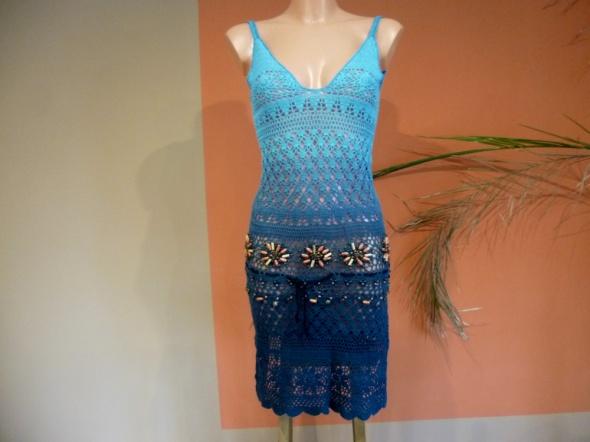 Ażurowa sukienka rozm 36 38