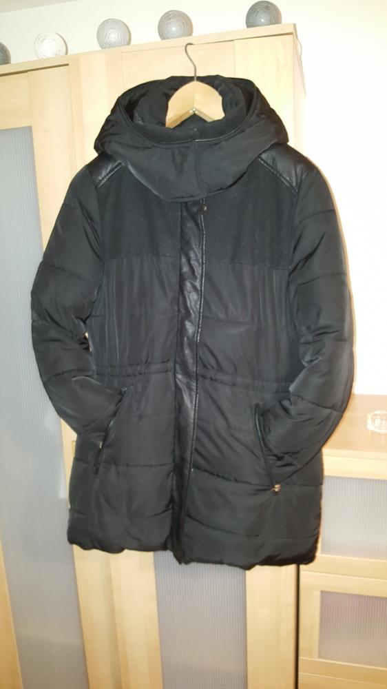 czarna ciepła zimowa kurtka...