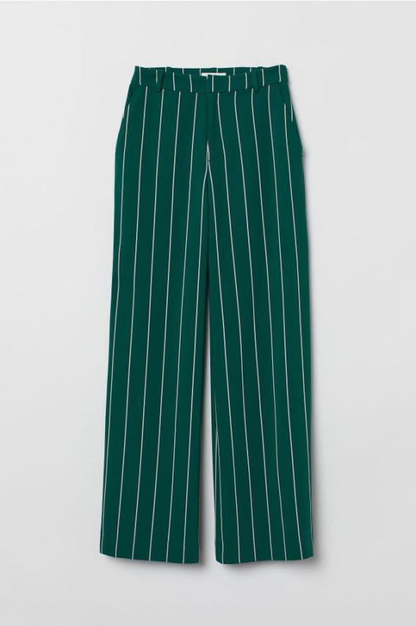 Nowe szerokie zielone spodnie H&M