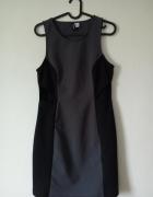 Sukienka szaro czarna z wycięciami...