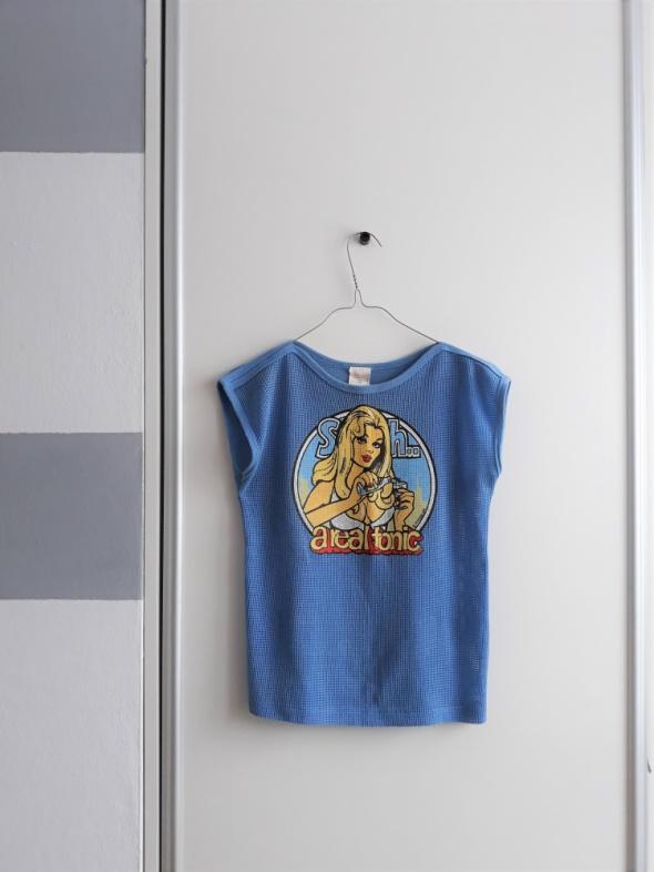 Niebieska koszula z nadrukiem arealtonic siatka