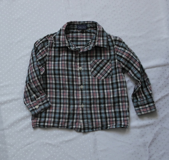 Cztery koszule w kratkę 88 92 F&F H&M