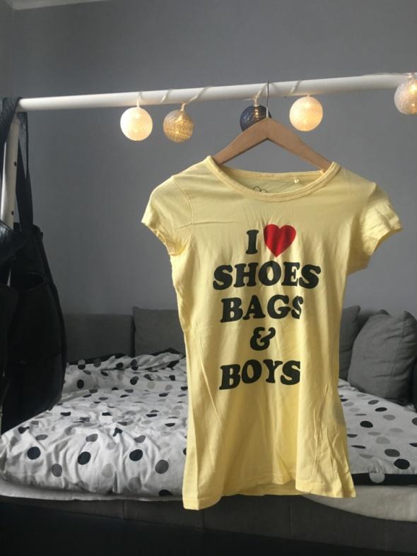 Żółta bluzka z nadrukiem...