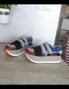 Zara nowe sneakers buty platformy adidasy skóra...