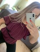 Fioletowa bluzka hiszpanka...