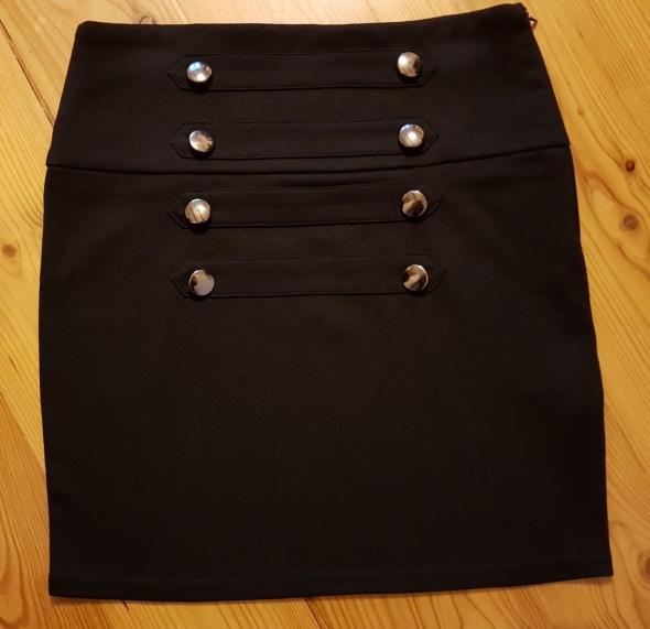 Elegancka spódnica ołówkowa wysoki stan guziki S 36