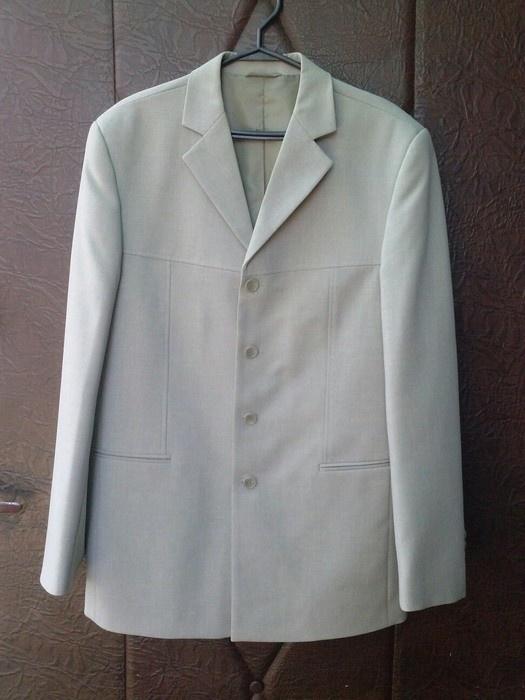 Garnitur zestaw spodnie marynarka kamizelka jasny