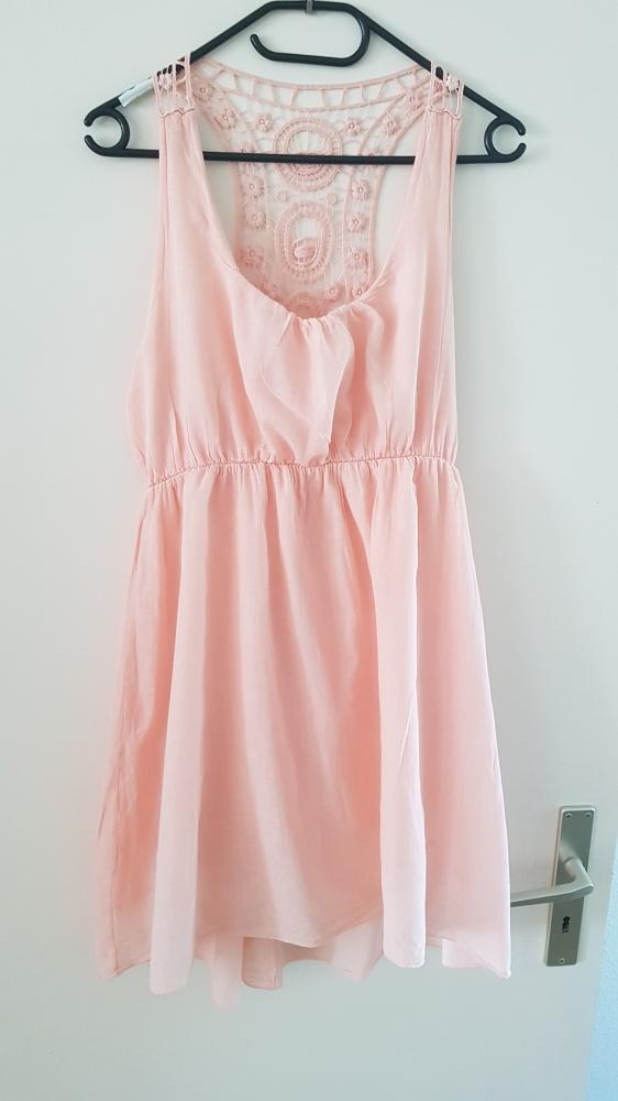 Letnia sukienka morelowa s m