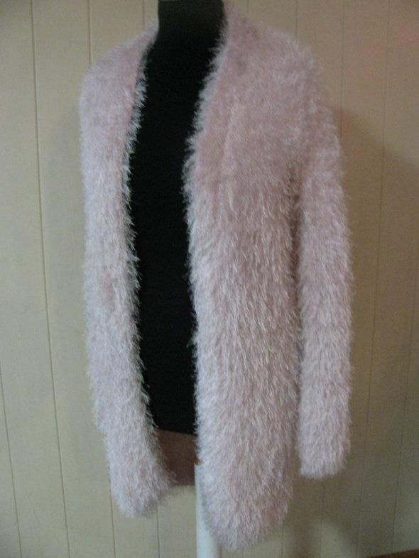 Swetry NEXT RÓŻOWY DŁUGI SWETER JAK PŁASZCZYK 36 38 40 JAK NOWY