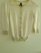 Letni koronkwy sweterek xs s