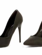 Seksowne szpilki damskie rozmiar 38 nowe matowe czarne...