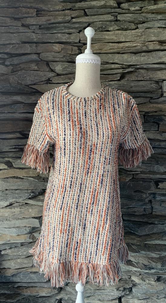 Suknie i sukienki SUKIENKA FIRMY ZARAZ Z FRĘDZLAMI
