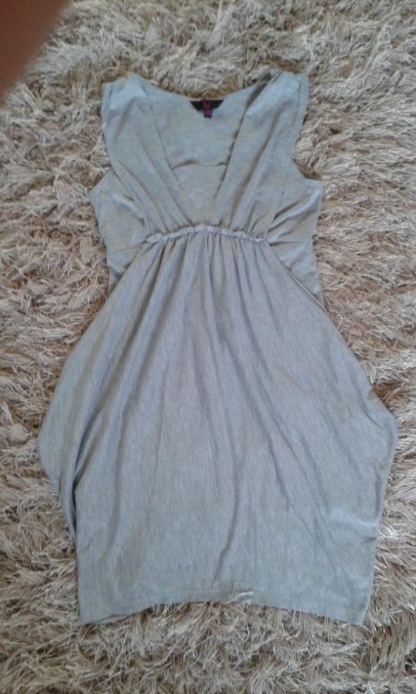 szara oryginalna sukienka 152 158cm xs 34
