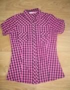 Czarno różowa koszula w kratę...
