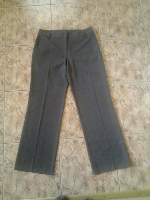 spodnie eleganckie brązowe