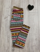 Wzorzyste spodnie wzorek kolorowe H&M S M...