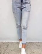 Spodnie jeansy baggi wysoki stan XS S