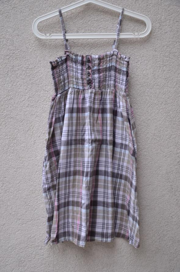 FISHBONE sukienka lekka w kratke