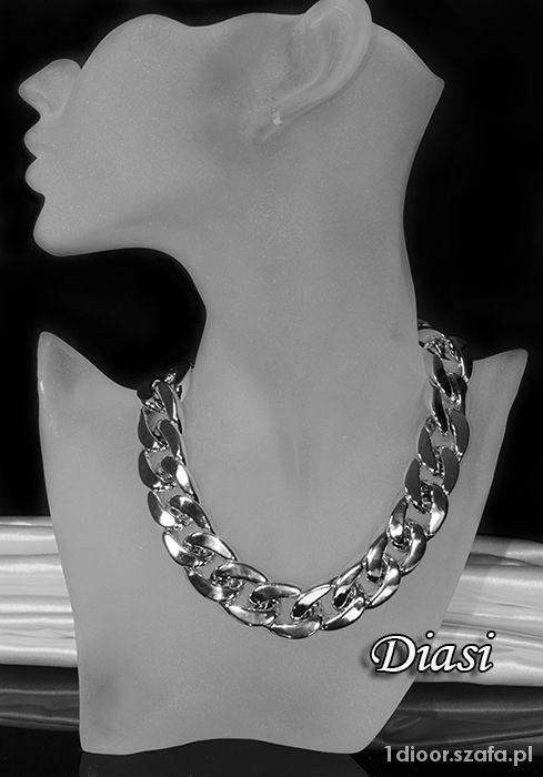 Łańcuch pancerka naszyjnik srebrny grafit