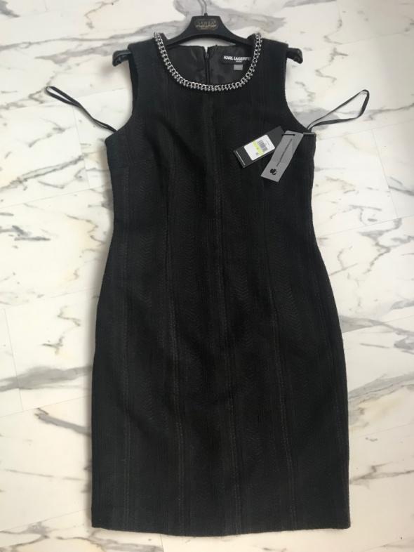 oryginalna sukienka Karl Lagerfeld czarna S M...