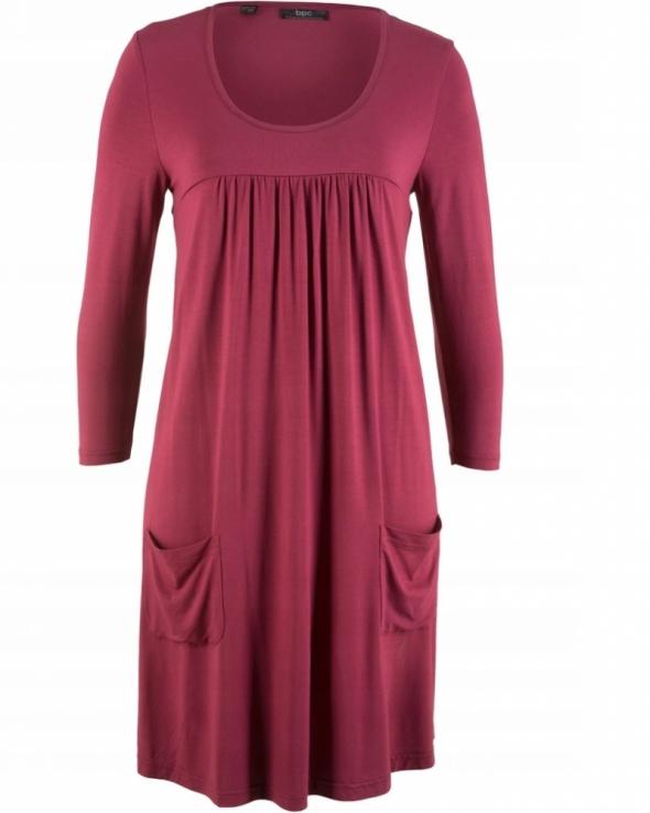 Bordowa shirtowa sukienka boho styl rozmiar 44...