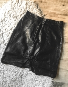 3 rzecz gratis czarna skórzana spódnica z wysokim stanem 34 XS...