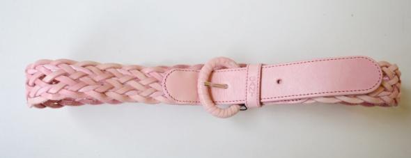 Pasek Różowy Gant Pleciony 80 Róż 90 cm Pudrowy...