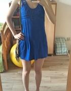 granatowa sukienka tunika...