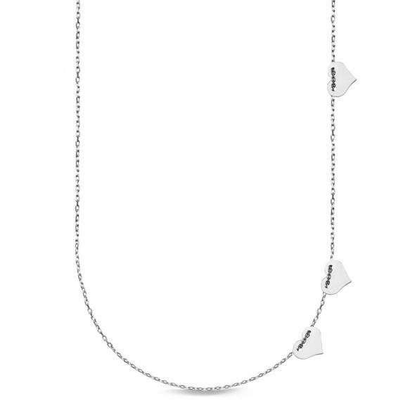 YES srebrny naszyjnik serduszka DNSU246 w pudełku próba 0925 NOWY