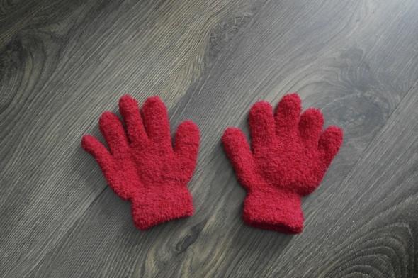 NOWE rękawiczki czerwone i granatowe od 4 do 7lat