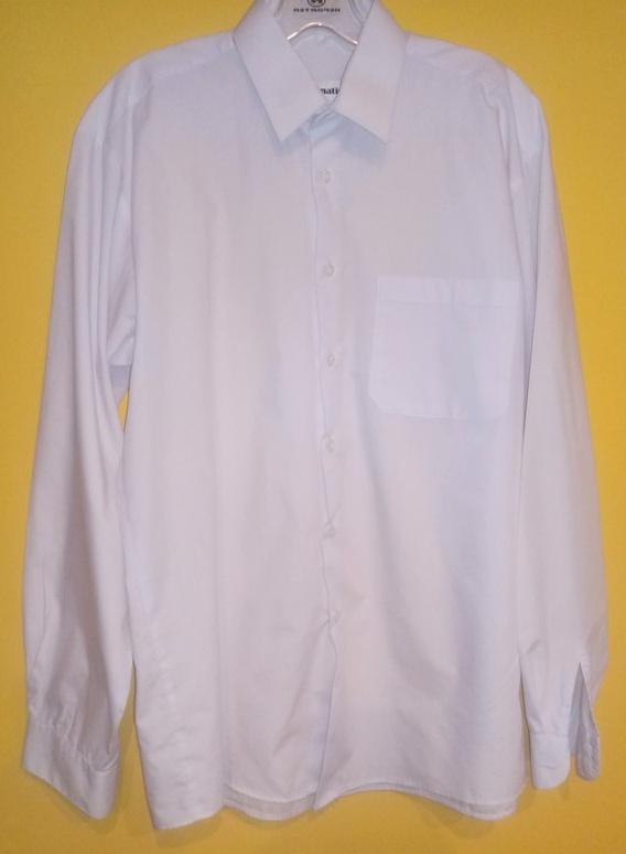 Koszule Śnieżnobiała męska koszula duża