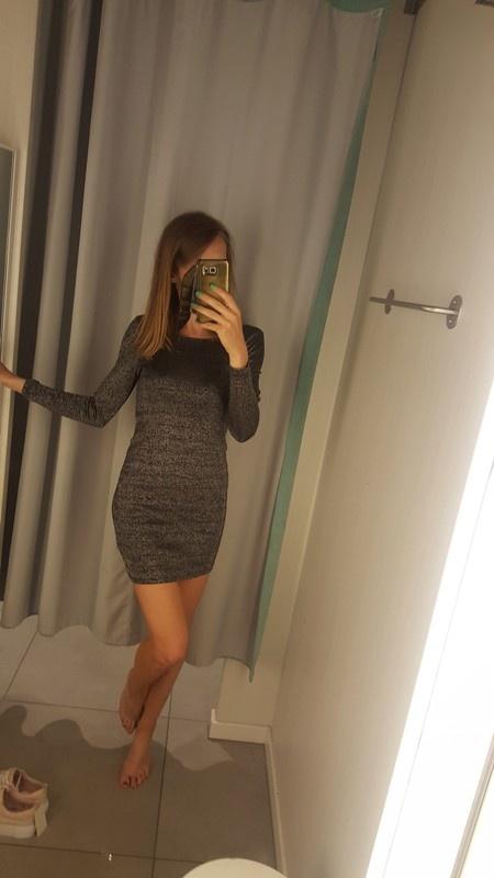 Nowa z metkamj srebrna sukienka h&m s