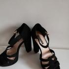 37 sandały słupek czarne eco MILAYA