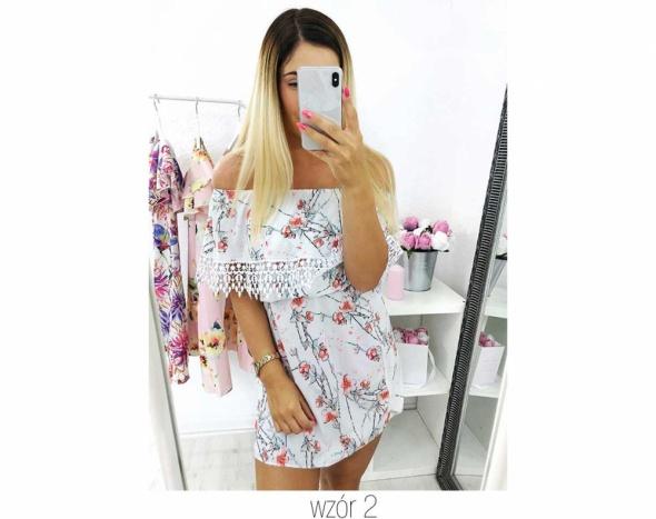 Sukienka mini hiszpanka falbany rozmiar SM