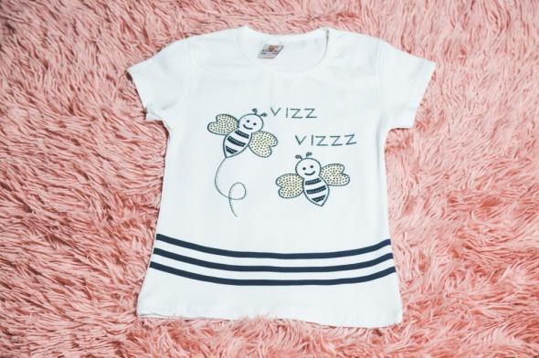 Nowa bluzeczka w błyszczące pszczółki...