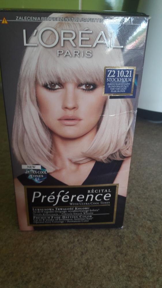 Farba do włosów Loreal Preferencje kolor 1021