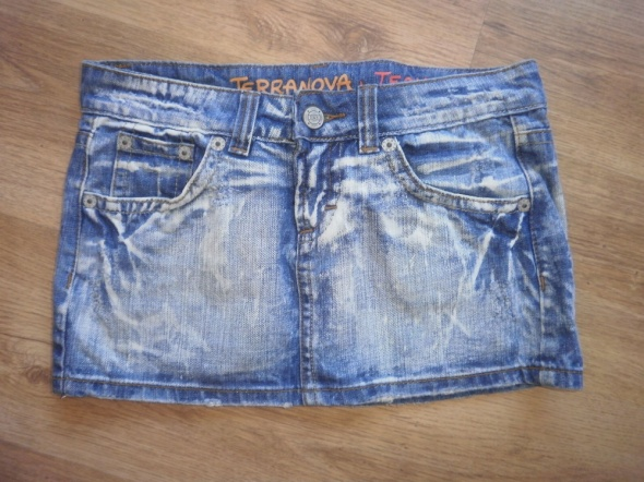 Mini Spódniczka jeansowa z Terranova