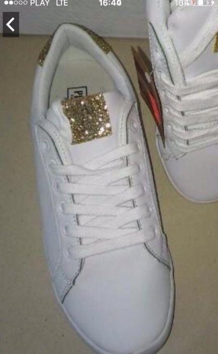 adidasy tenisówki trampki white BIAŁE jak holograficzne HIT połysk