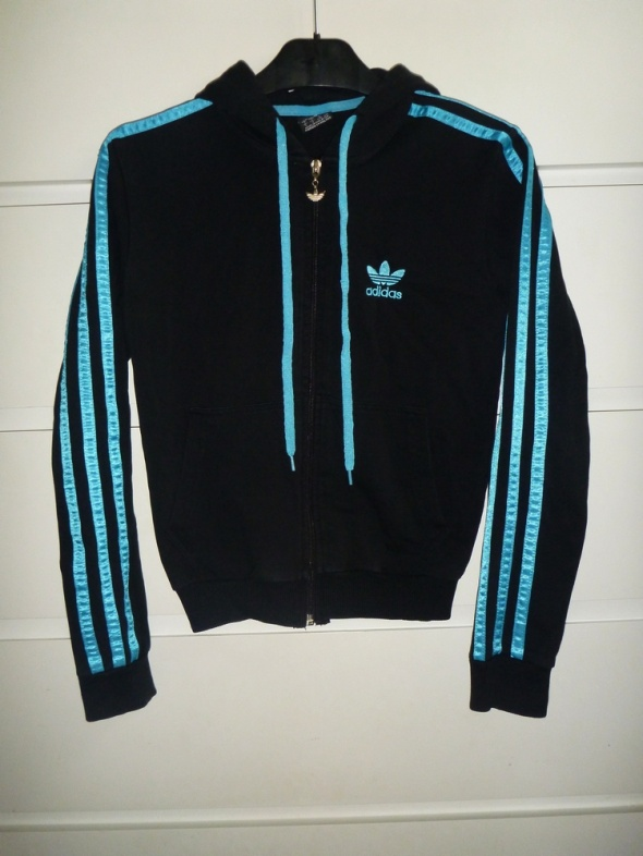 Bordowa bluza adidas L na XL w Bluzy Szafa.pl