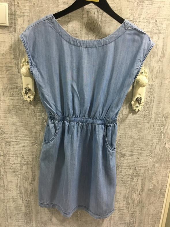 Letnie dżinsowa sukienka XS...