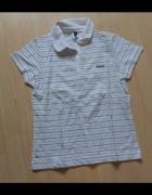 bluzka koszulka sportowa polo w paski reebok s...