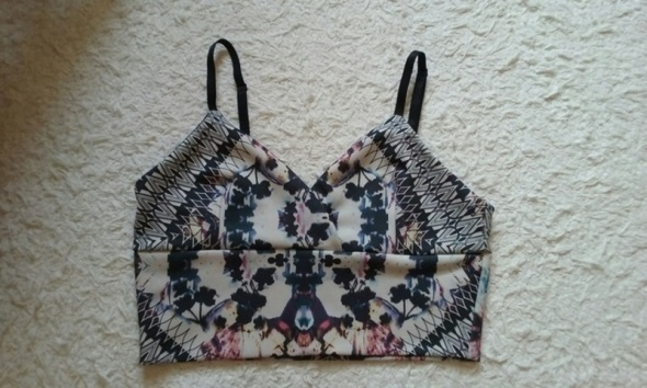 Crop top bralet wzory print galaxy Miss Selfridge...