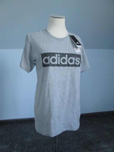 Szara koszulka Adidas tshirt z napisami
