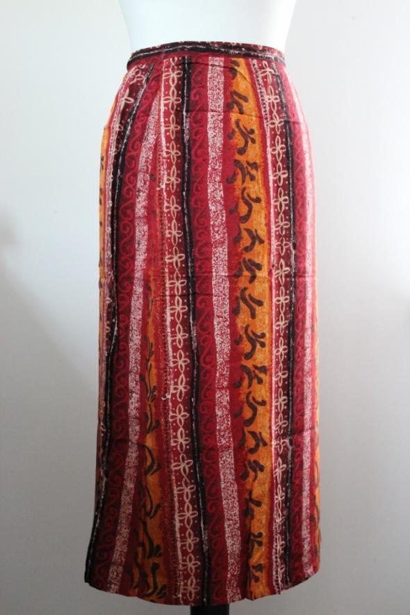 spódnica kopertowa pareo azteckie wzory ołówkowa