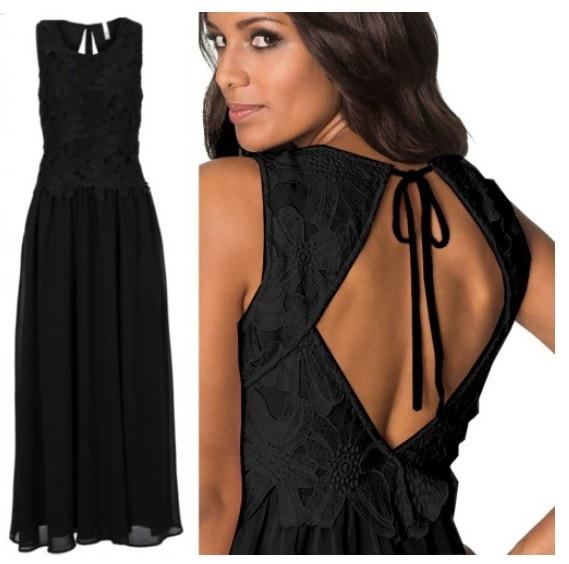 Suknia sukienka elegancka czarna koronka bon prix 38...