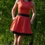 rozkloszowana sukienka s m