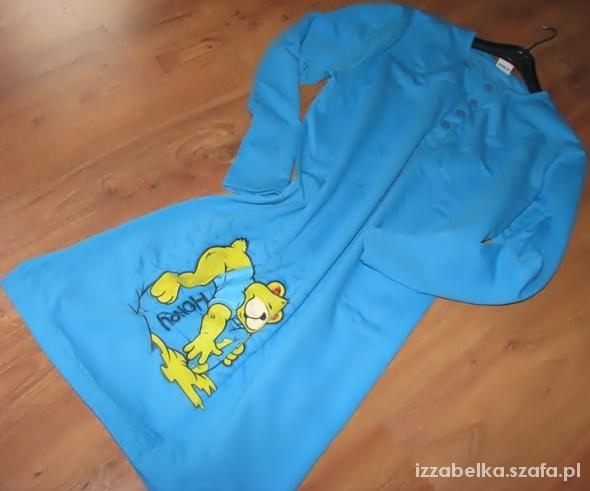 NOWA O C I E P L A N A koszula nocna niebieska