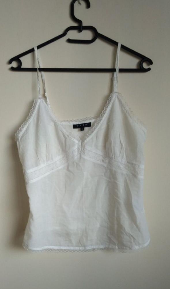 Bik Bok crop top krótka bluzka koronka boho M