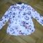 Piękna lniana bluzka koszula jak nowa 40 podwijane rękawy z patką