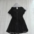 Koronkowa czarna sukienka S